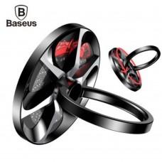 Попсокет кольцо-держатель Baseus Finger Ring Stand Holder Wheel Bracket Black для Apple iPhone/смартфона
