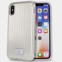 Чехол Polo Lenard Suitcase Shape Double Protective Case Silver для iPhone X/XS