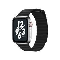 Ремешок кожаный Coteetci W7 Leather Magnet Band Черный 42/44mm для Apple Watch