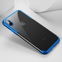 Чехол Baseus Shining Silicone Case Blue для iPhone XS Max