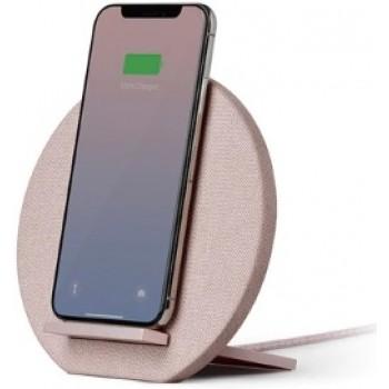 Беспроводное зарядное устройство Native Union Dock Wireless Charger Fabric Rose для зарядки Qi уcтройств/IPhone