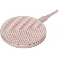 Беспроводное зарядное устройство Native Union Drop Wireless Charger Fabric Rose для зарядки Qi уcтройств/IPhone