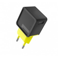 Сетевое зарядное устройство Rock Sugar Travel Charger 1 USB Port Black Yellow для iPhone/iPad