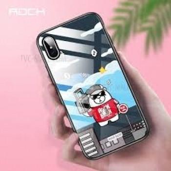 Чехол Rock Tempered Glass Bear Music Blue для iPhone XS Max