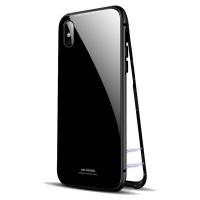 Чехол стеклянный WK Design Magnets Case Black для iPhone XR