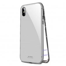 Чехол стеклянный WK Design Magnets Case White для iPhone XR