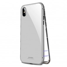 Чехол стеклянный WK Design Magnets Case White для iPhone XR