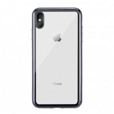 Чехол стеклянный WK Design Crysden Case Black для iPhone XR