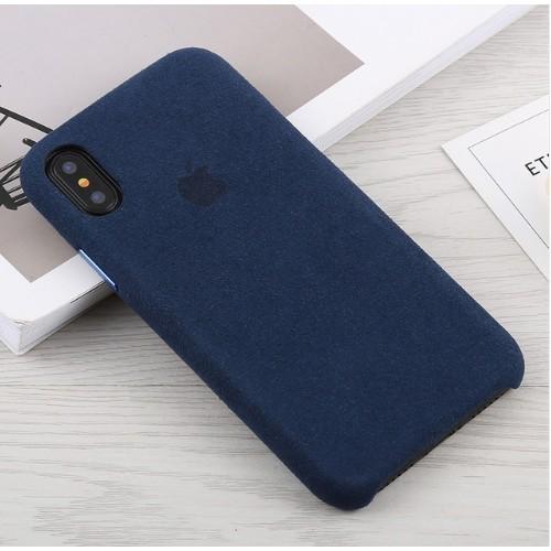 alcantara leather case midnight blue iphone x xs. Black Bedroom Furniture Sets. Home Design Ideas