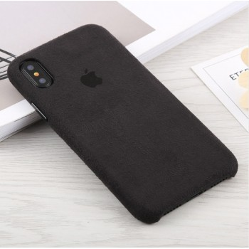 Чехол ALCANTARA Leather Case Black для iPhone XR