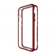 Чехол стеклянный WK Design Magnets Case Red для iPhone XR
