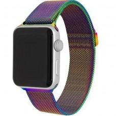 Ремешок стальной Milanese Loop Rainbow 38/42mm для Apple Watch