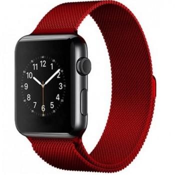 Ремешок стальной Milanese Loop Red 38/42mm для Apple Watch