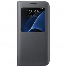 Чехол кожаный S View Cover Case Black для Samsung Galaxy A7/A7100