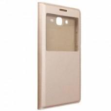 Чехол S View Cover Case Gold для Samsung Galaxy J7