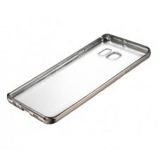 Чехол силиконовый прозрачный с глянцевой окантовкой Black для Samsung Galaxy J7