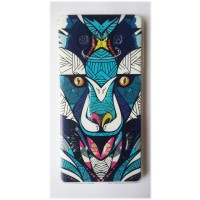 Чехол силиконовый с рисунком Wolf для Samsung Note Edge