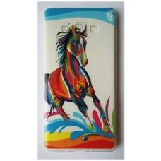 Чехол силиконовый с рисунком Horse для Samsung Galaxy J1