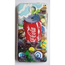 Чехол силиконовый с рисунком Coca Cola для Lenovo S4