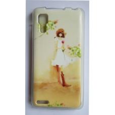 Чехол силиконовый с рисунком Girl для Lenovo A820
