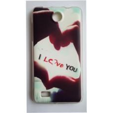Чехол силиконовый с рисунком Love для Lenovo A820