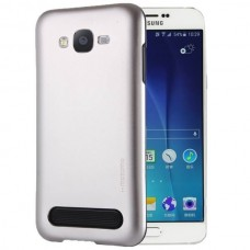 Чехол пластиковый Motomo Armor Metal TPU Protective Case Silver для Samsung Galaxy A7/А700