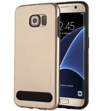 Чехол пластиковый Motomo Armor Metal TPU Protective Case Gold для Samsung Galaxy S6 Edje