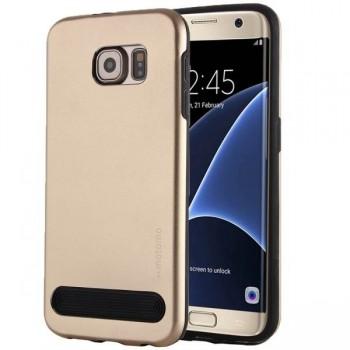 Чехол пластиковый Motomo Armor Metal TPU Protective Case Gold для Samsung Galaxy S7