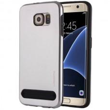 Чехол пластиковый Motomo Armor Metal TPU Protective Case Silver для Samsung Galaxy S7 edge