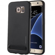 Чехол пластиковый Motomo Armor Metal TPU Protective Case Dark Black для Samsung Galaxy S7 Edge