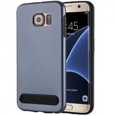 Чехол пластиковый Motomo Armor Metal TPU Protective Case Dark Blue для Samsung Galaxy S7 Edge