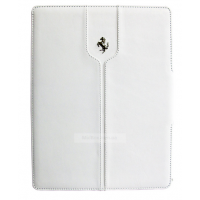 Чехол Ferrari Montecarlo Leather Folio White для iPad Mini/Mini 2/Mini 3