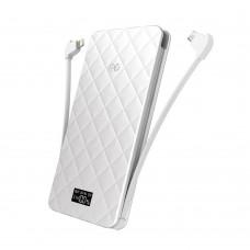 Аккумулятор дополнительный универсальный iWalk Extreme White TRIO 10000mAh для зарядки iPhone/iPad//Macbook/смартфонов/планшетов