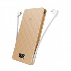 Аккумулятор дополнительный универсальный iWalk Extreme TRIO Gold 10000mAh для зарядки iPhone/iPad//Macbook/смартфонов/планшетов
