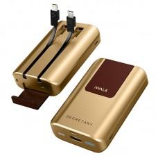 Аккумулятор дополнительный универсальный iWalk Secretary Plus Gold 10000mA для зарядки  iPhone/iPad//Macbook/смартфонов/планшетов