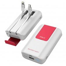 Аккумулятор дополнительный универсальный iWalk Secretary Plus White 10000mAh для зарядки смартфонов/планшетов/Macbook/iPad/iPhone