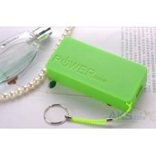 Аккумулятор внешний Power Bank 1500mAh Green