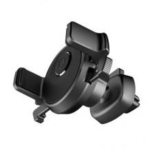 Автомобильный держатель магнитный Baseus Mechanical Era Clip 360 Rotation Black для iPhone/смартфона