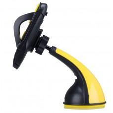 Автомобильный держатель Remax Car Holder Blaсk/Yellow для iPhone/смартфона