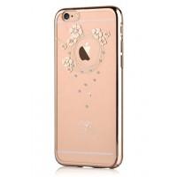 Чехол пластиковый Devia Crystal Garland Champagne Gold для Apple iPhone 7 Plus/8 Plus
