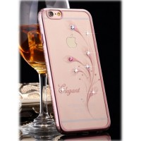 Чехол пластиковый Kingxbar Blink Ultra Thin Tapered Austria Crystal Rose для iPhone 7 Plus/8 Plus