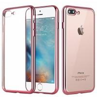 Чехол силиконовый прозрачный с окантовкой Rose для iPhone 7 plus/8 plus