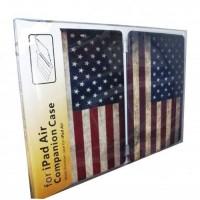 Чехол Hoco Retro Smart Cover Back Hard Case USA Flag для iPad Air