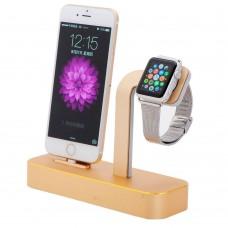 Докстанция Coteetci Base 5 Gold для Iphone/Apple Watch