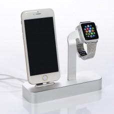 Докстанция Coteetci Base 5 Silver для Iphone/Apple Watch
