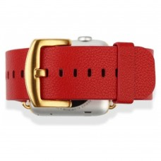 Ремешок кожаный Baseus iWatch Genuine Leather Strap Malibu Series 42mm Red для Apple Watch