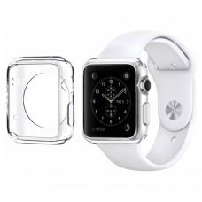 Чехол пластиковый TPU case Clear для Apple Watch 38 mm