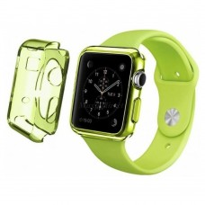 Чехол пластиковый TPU case Clear Green для Apple Watch 38 mm