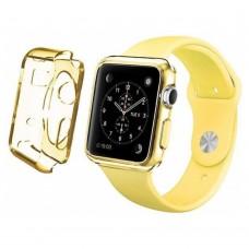 Чехол пластиковый TPU case Clear Yellow для Apple Watch 38 mm
