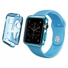 Чехол пластиковый TPU case Clear Blue для Apple Watch 38 mm